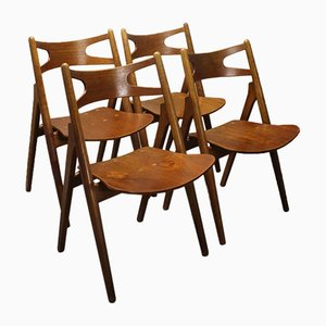 Modell CH29 Stühle von Hans Wegner Sawbuck für Carl Hansen & Son, 1952, 4er Set