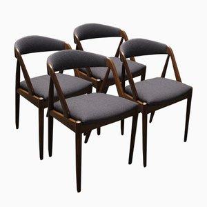 Chaises de Salon par Kai Kristiansen pour Schou Andersen Møbelfabrik, Set de 4