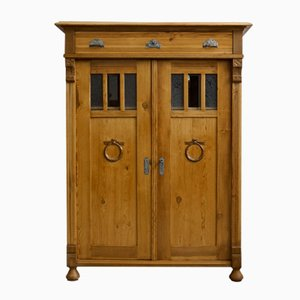 Art Nouveau Half-Cupboard with Glass Inserts, 1910s