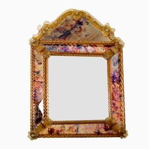 Decorative Venetian Glass Mirror, 1970s
