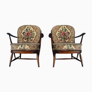 Easy Chairs Vintage Windsor par Lucian Ercolani pour Ercol, Set de 2