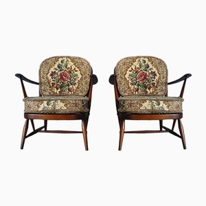 Vintage Windsor Easy Chairs by Lucian Ercolani for Ercol, Set of 2