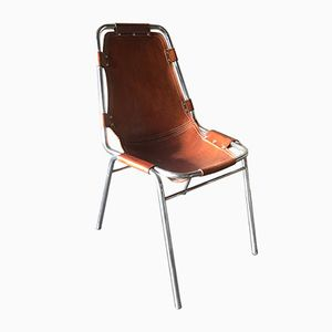 Vintage Les Arcs Leather Chair by Charlotte Perriand