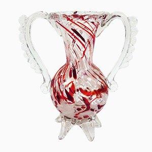 Jarrón de cristal de Murano soplado de Barovier & Toso, años 40