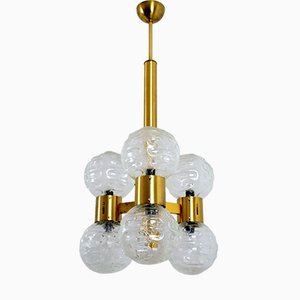 Italian Regency Brass and Glass Chandelier, 1960s