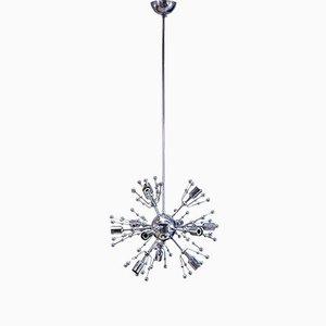 Lámpara de araña sputnik de 12 brazos de Gaetano Sciolari, años 60
