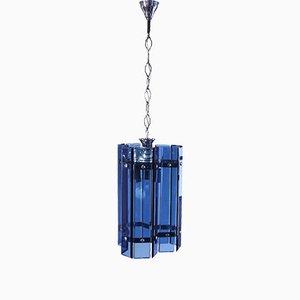 Lámpara de araña de vidrio de Veca, años 60