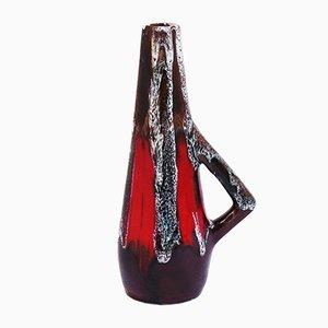 Jarrón de cerámica con asa, años 50