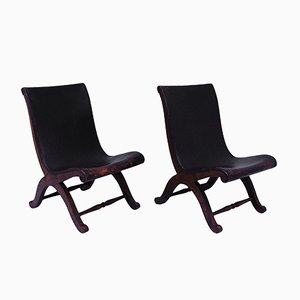 Slipper Chairs by Pierre Lottier for Valenti, 1940s, Set of 2