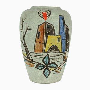 Vase Expressioniste de Scheurich, 1950s