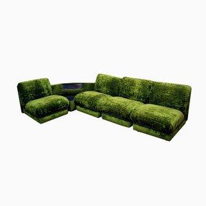 Modulares Italienisches Sofa mit Ecktisch & Radio, 1970er