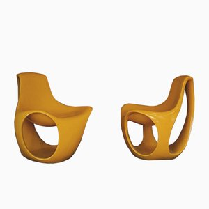 Space Age Fiberglass Chairs, Set of 2