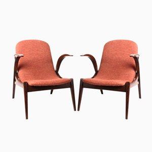 Kleine Vintage Armlehnstühle, 2er Set