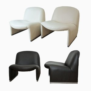 Alky Lounge Chairs by Giancarlo Piretti for Castelli, 1972, Set of 4