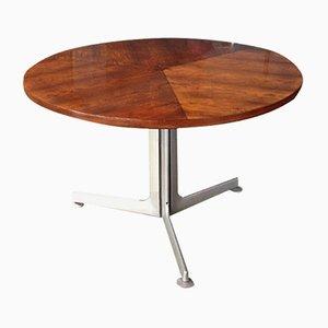 Mesa danesa redonda de palisandro, años 60