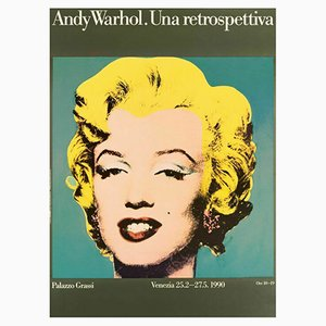 Poster di Andy Warhol a Venezia, 1990