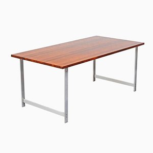 Danish Rosewood Dining Table by Jørgen Hoj for Niels Vitsoe, 1960s