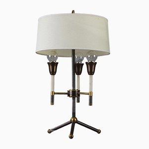 Mid-Century Tischlampe aus Schwarzem und Vergoldetem Metall, 1950er
