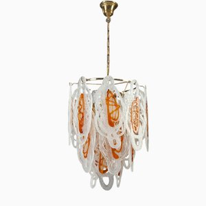 Mid-Century Italian Murano Glass Chandelier, 1960s