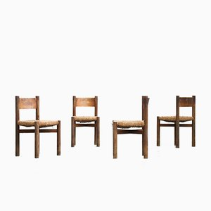 Dining Méribel Chairs by Charlotte Perriand, Set of 4