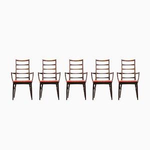 Chaises de Salon par Niels Koefoed, Danemark, Set de 7