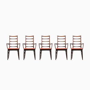 Vintage Danish Dining Chairs by Niels Koefoed, Set of 7