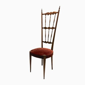 Italian High Back Chiavari Chair, 1940s