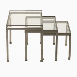 Nesting Tables by Guy Lefevre for Maison Jansen, 1970s