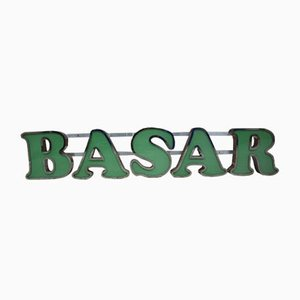 Vintage Illuminated Basar Sign, 1982