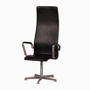 Dänischer 3272 High Oxford Stuhl von Arne Jacobsen für Fritz Hansen, 1988