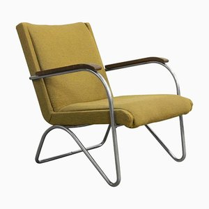 Easy Chair Jaune par L.C. Van Der Vlugt pour Brinkman & Van Der Vlugt, 1930s