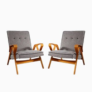 Beech Armchairs from Tatra, 1950, Set of 2