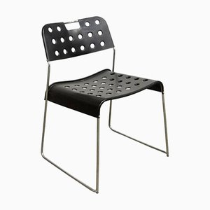 Black Omstak Stacking Chair by Rodney Kinsman for Bieffeplast, 1970s