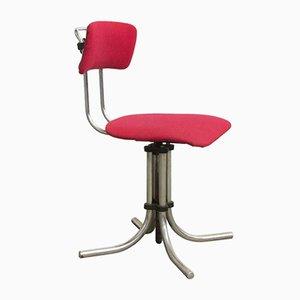 Chaise de Bureau Pivotante Ajustable de Fana Metaal, 1970s