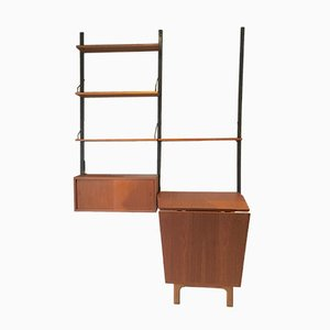 Mid-Century Royal System Wall Unit with Table by Paul Cadovius for Cado