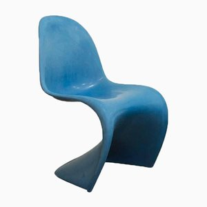 Blue Stacking Chair by Verner Panton for Herman Miller, 1970s