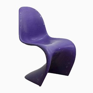 Purple Stacking Chair by Verner Panton for Herman Miller, 1970s