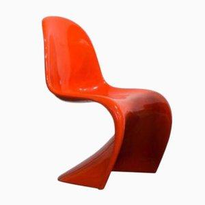 Sedia accatastabile arancione di Verner Panton per Heman Miller, anni '70