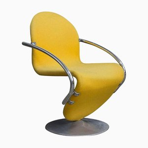 Easy Chair 1-2-3 Series en Jaune par Verner Panton, 1973
