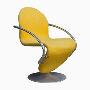Easy Chair 1-2-3 Series en Jaune par Verner Panton, 1973