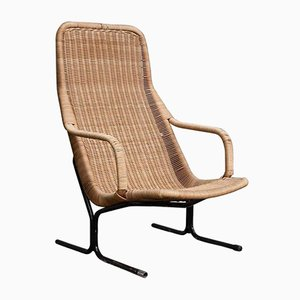 514 Wicker Lounge Chair by Dirk van Sliedregt for Gebroeders Jonker Noordwolde, 1960s