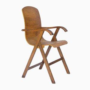 Europäischer Vintage Schichtholz Stuhl