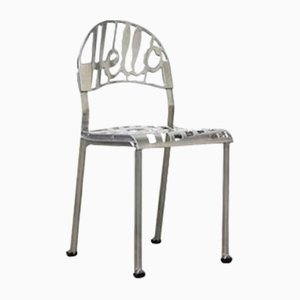 Chaise Hello There Vintage en Chrome Plaqué par Jeremy Harvey pour Artifort