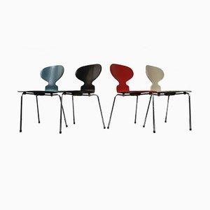 Sedie Ant Modello 3100 di Arne Jacobsen per Fritz Hansen, 1969, set di 4