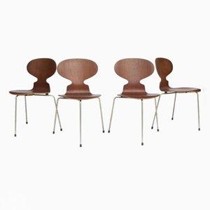 Sillas Ant vintage de Arne Jacobsen para Fitz Hansen. Juego de 4