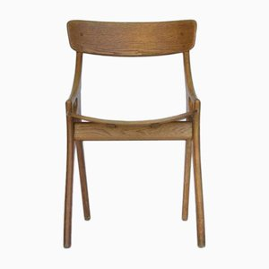 Vintage Eichenholz Stuhl von Arne Hovmand-Olsen für Mogens Kold Møbelfabrik