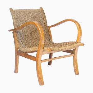 Easy Chair in Wood and Rope from V&D, 1960s