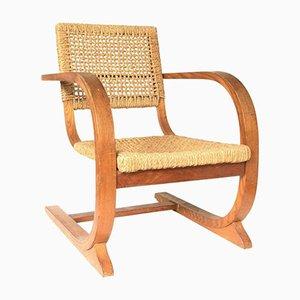 Vintage Seilschlinge Sessel mit Hoher Rückenlehne von Bas van Pelt