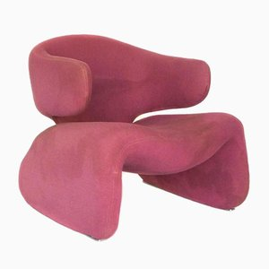 Vintage Djinn Lounge Chair in Pink by Olivier Mourgue for Airborne