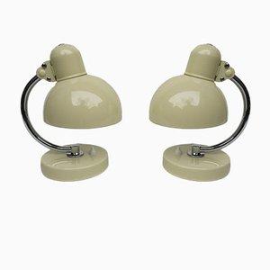 Lámparas de mesa de noche de Christian Dell para Kaiser Idell, años 30. Juego de 2